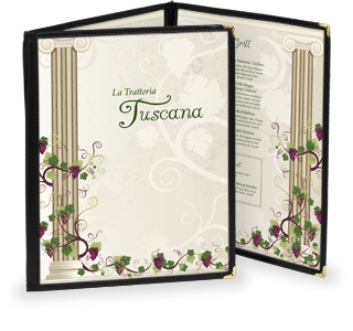 Cafe Menu Cover - two fold, six view