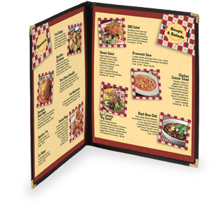 Cafe Menu Cover - Double 4 view