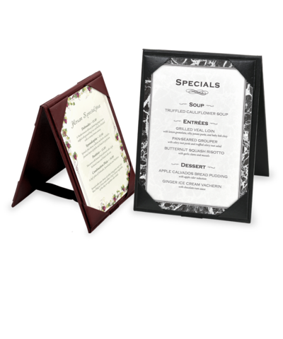 Leatherette  A-Frame Table Tents