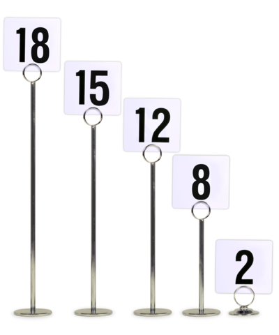 Metal Table Number Stands