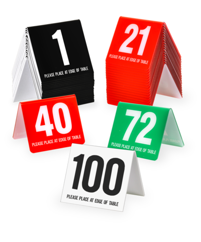 Plastic Table Number Tents