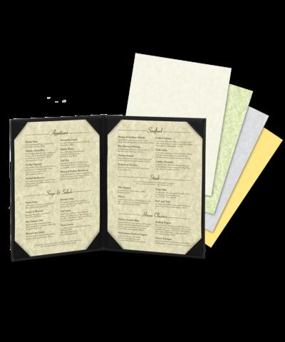 Blank Parchment Menu Paper