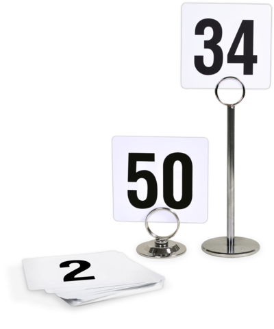 Plastic Table Numbers