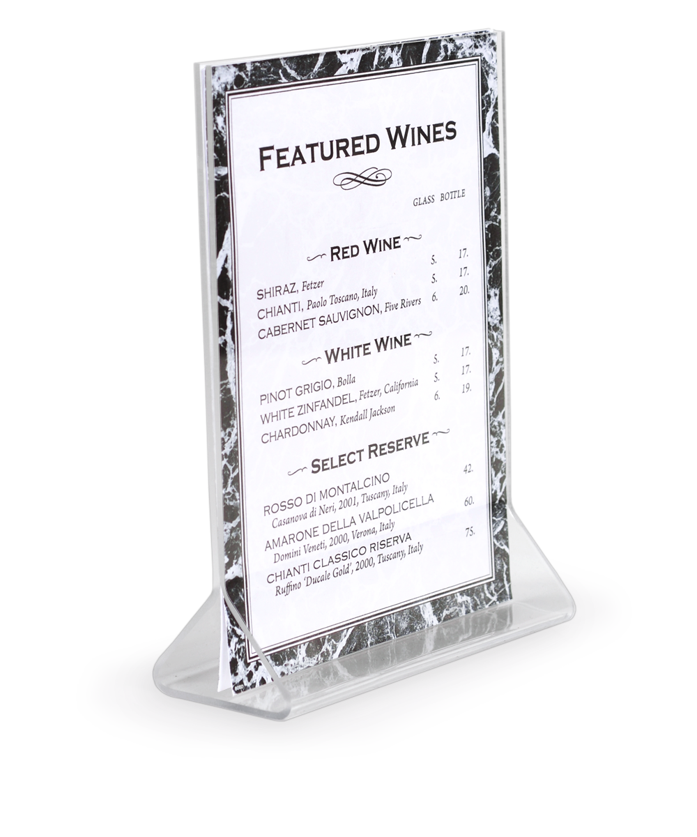 Clear Acrylic Card Holders Restaurant Table Tents - Acrylic table tent holders