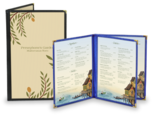 Cafe Style Menu Covers w/ Leatherette Binding