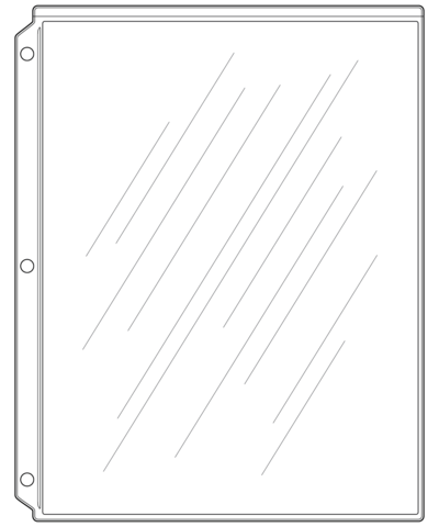 Page Protectors for Wine List Covers - 3 hole